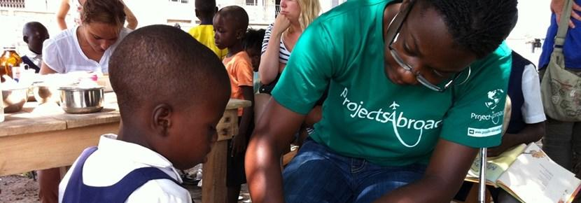 Volunteer on the Medicine project uses skills to help wounded children