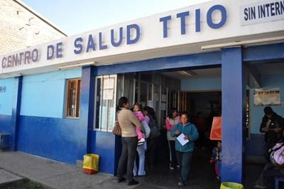 Medical clinic where professional midwives work in Peru