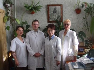 Professional volunteer team on occupational therapy project in Romania