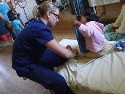 Professional physical therapist volunteering in Bolivia