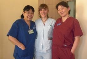 A psychiatrist volunteering in Mongolia spends time with local colleagues.