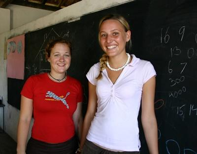 Gap Year volunteers on the Teaching project in a school in Sri Lanka