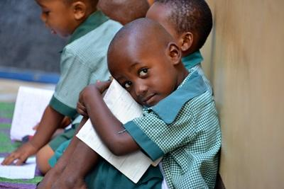 A Tanzanian school boy at a Teaching placement in Tanzania, Africa