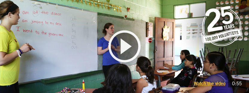 Volunteer abroad as a teacher and teach children in developing countries, from Africa to Asia.